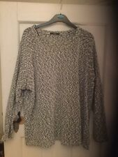 Ladies Black And White Jumper Size 24 Long Sleeves