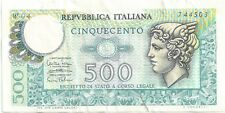 "Italy - 1974, 500 Lire, ""W"" Replacement!"