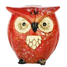 Retro Vintage Owl Ceramic Saving Pot Piggy Bank Home Decor Ornament 12CM