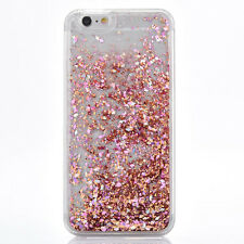 Dynamic Quicksand Glitter Heart Liquid Hard Phone Case Cover For iPhone 7 6 6s 5