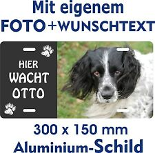 Hunde Schild eigenes Foto Text jede Rasse English Springer Spaniel Warnschild