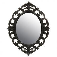NUOVO Shabby Chic ORNATA Francese Ovale Specchio Parete Hall modo Specchio Del Bagno Nero