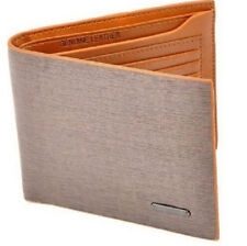 GRAU Fashion Mens Leather Bifold Clutch Credit/ID Card Holder Wallet Coin Purse