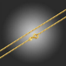 """Yellow Gold Filled 18K Beads Chain Kids Children's Necklace Jewellery 35cm 14"""""""