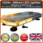 600MM 60CM MAGNETIC LED AMBER LIGHT BAR STROBE BEACON RECOVERY VEHICLES 56W