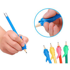10x Silicone Fish Pencil Grip Control Pen Tool Student Handwriting Supply Random