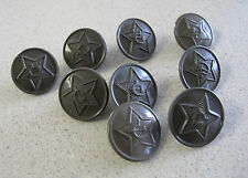 Russian Soviet Military Red Army uniform Buttons Hammer Sickle plastic Пуговицы