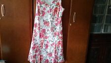 NEW M & S  cotton white/pink/peach mix dress size 20 length 30""