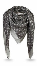 Louis Vuitton Monogram Denim Schwarz Tuch M71378 Schal Scarf Stola 100% ORIGINAL