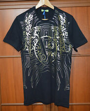VERSACE COLLECTION BLACK WITH PRINT T SHIRT SIZE M