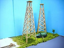 N SCALE  ** Laser Cut ** Two Oil Derrick Kit