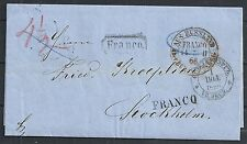 Russia 1866 folded letter St.Petersburg to Stockholm