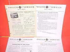 1946 1947 FORD CHEVROLET CHRYSLER STUDEBAKER PHILCO RADIO SERVICE MANUAL UN6-550