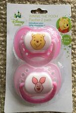 Disney Baby- 2 PACK Winnie The Pooh pacifier Pink BPA FREE