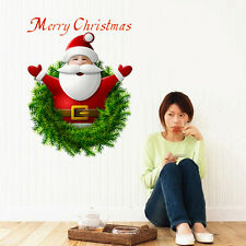 3D Santa Claus Climb Out Wall Sticker Removable Mural Decal Christmas Decoration