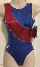 NWT GK Elite leotard AXS gymnastics leo adult extra small + scrunchie **NEW**