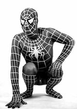 Adult Black Suit Spider-Man kids superhero Party cosplay costume Halloween