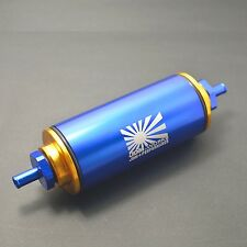 Blue 100 Micron FUEL FILTER INLINE AN1 Stainless Steel SS Element turbo