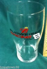 Budweiser beer glass barware drinking Anheuser-Busch Dale Jr 8 racing bar AV9