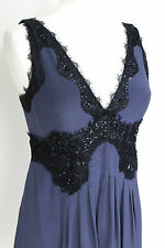 Pinko navy blue embellished dress 42 uk 10