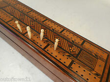 Antique inlaid  Cribbage Playing Card Scorer  Box     ref 2562