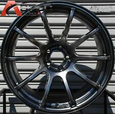 18X9 ROTA G FORCE WHEELS 5X114.3 HYPER BLACK RIMS FITS MAZDA SPEED3 6 RX8