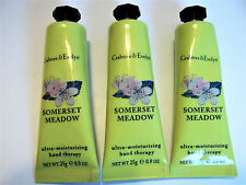 Crabtree & Evelyn SOMERSET MEADOW Moisturising Hand Therapy .9 oz/25 g, NEW x 3