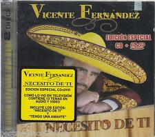 Vicente Fernandez CD NEW + DVD Necesito De Ti ALBUM 15 Temas SEALED