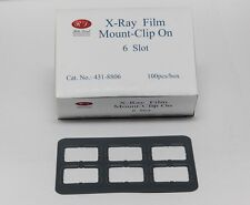 DENTAL UNIVERSAL X-RAY FILM MOUNT FRAMES SIZE #2 - CLIP ON 6 SLOT 100 PC/BOX