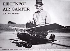 Vintage PIETENPOL AIR CAMPER RC Scale Model Airplane PLAN + Construction Article