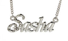 18K White Gold Plated Necklace With Name SASHA - Personalized Xmas Accessories