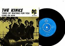 KINKS 7' PS Tired of Waiting For You Sweden PYE 15759 RARE SWEDISH 45 very rare!