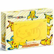 NEW Nintendo 3DS LL XL Console Pikachu Yellow Pokemon Japan Limited Model