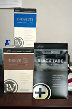 Le-Vel Thrive Men 30-Day Pack - Vitamins, Black DFT Patches & Chocolate Shakes