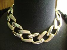 VINTAGE SMOOTHE AND TEXTURED LINED LINKED  CHOKER NECKLACE