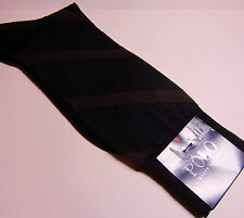 POLO RALPH LAUREN-MEN'S SOCKS NAVY  BURGUNDY STRIPE-NWT