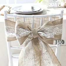 1 Wedding Dining Linen Lace Chair Covers Bows Sash Party Reception Banquet Decor