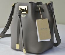 $690 Michael Kors Collection Elephant Miranda Small Drawstring Bucket Bag
