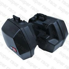 Black 2PCS Side Cases Hard Bags Luggage Bags with Lock for R1100RT R1150RS RT GS