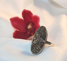 Edler Ring mit Markasite 925er Silber Fingerring Fingerschmuck / Art. ss 654