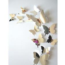 Wall Stickers Butterflies 3D Mirror Wall Art Home Decors Beautiful Sticker NICE