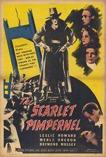 THE SCARLET PIMPERNEL Movie POSTER 27x40 Leslie Howard Joan Gardner Merle Oberon