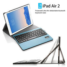 360 Rotating Case Cover Built-in Wireless Bluetooth Keyboard Fr Apple iPad Air 2
