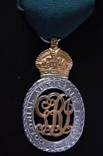 STERLING SILVER COLONIAL AUXILIARY FORCES  OFFICER'S DECORATION.