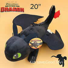"How to Train Your Dragon Plush Toothless Night Fury Soft Toy Doll Teddy 20"" BIG"