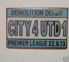 Manchester City v United 4  1 football pin badges Manchester City Gifts