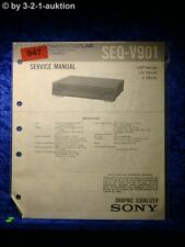 Sony Service Manual SEQ V901 Graphic Equalizer  (#0947)