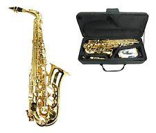 NEW Merano E Flat Gold Brass Alto Saxophone,Case Student Orchestra Beginner Band