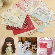 100Pcs 10x10cm Coton Floral Coupon Tissu Patchwork Couture Scrapbooking DIY