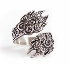 Viking Norse Celtic Wolf Paw Adjustable Ring